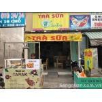 Sang gấp quán trà sữa đồ ăn vặt mặt tiền số 61 Hồ Bá Phấn